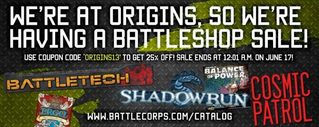 CGL BattleShop 25% off Sale