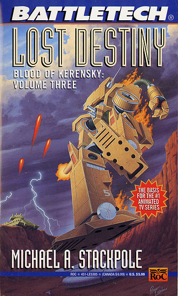 Cover of 1995 reprint of Lost Destiny