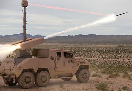 Guided 70mm rockets can also be used in land-based launch systems.