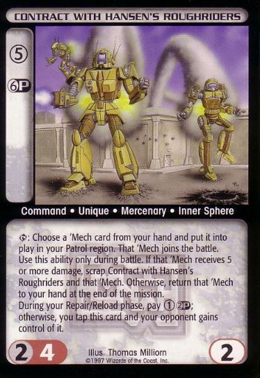 File:Contract with Hansen's Roughriders CCG MechWarrior.jpg