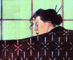 Illustration of Omi Kurita by D. Alexander Gregory