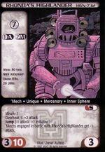 Rhonda's Highlander (HGN-732) CCG Mercenaries.jpg