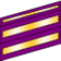 Two wide and one narrow purple bands with gold inset stripes.