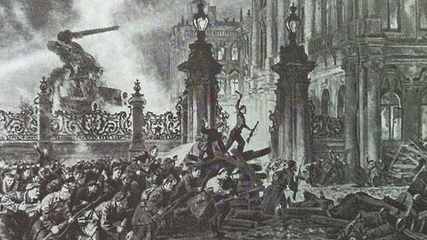 Storming the Winter palace on 25th October 1917 by Nikolai Kochergin... plus a Marauder