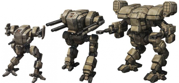 The Raptor, along with upcoming models in the Mecha Front series.