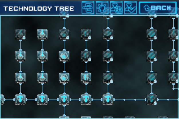 The technology research tree is massive. Lots of upgrading to do here.