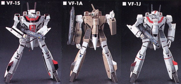 Three variant Valkyrie variable fighters; originally used as the Wasp, Stinger, and Phoenix Hawk 'mechs.