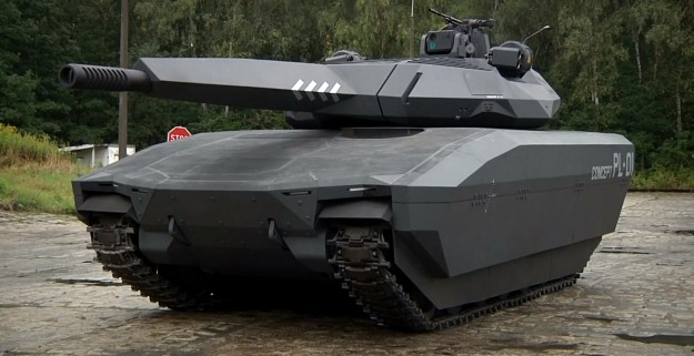 PL-01, Poland's new mini stealth tank looks the part of a science fiction battlefield.