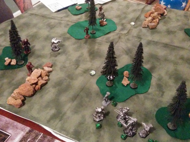 Wolf's Dragoons prepare to counterattack against the advancing 5th Sword of Light.