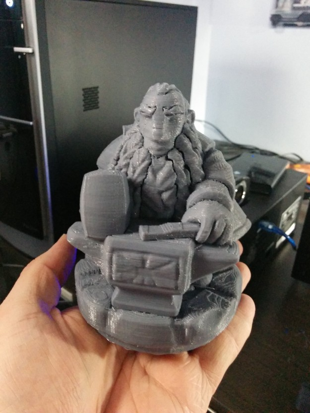 This dwarf statue is but one example of what you can make with a 3D printer.