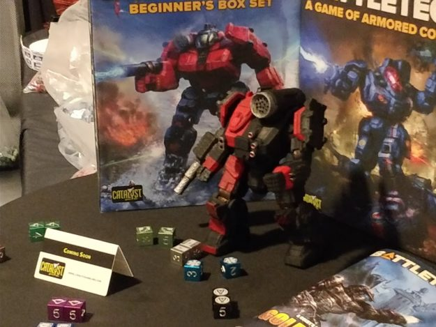 Catalyst Game Labs Showcases Upcoming Merch At Mech_Con