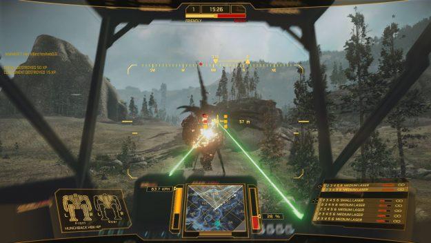 medium laser Hunchback