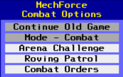 The Combat selector