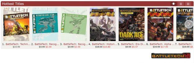 DriveThruRPG BattleTech sale