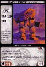 Battletech CCG from set Counterstrike W Lightly Played Daishi Prime Dire Wolf