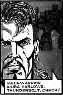 Akira Harlowe when Black Widow Company deploys to leave New Delos