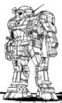 A humanoid Atlas BattleMech