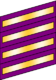 Four wide purple bands with gold inset stripes.
