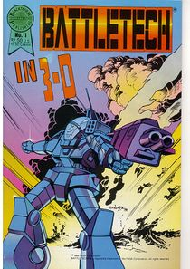 Blackthorne BattleTech in 3-D comic
