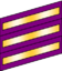 Three wide purple bands with gold inset stripes.