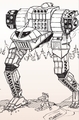 Mech and infantry soldier during the Battle of Misery.png